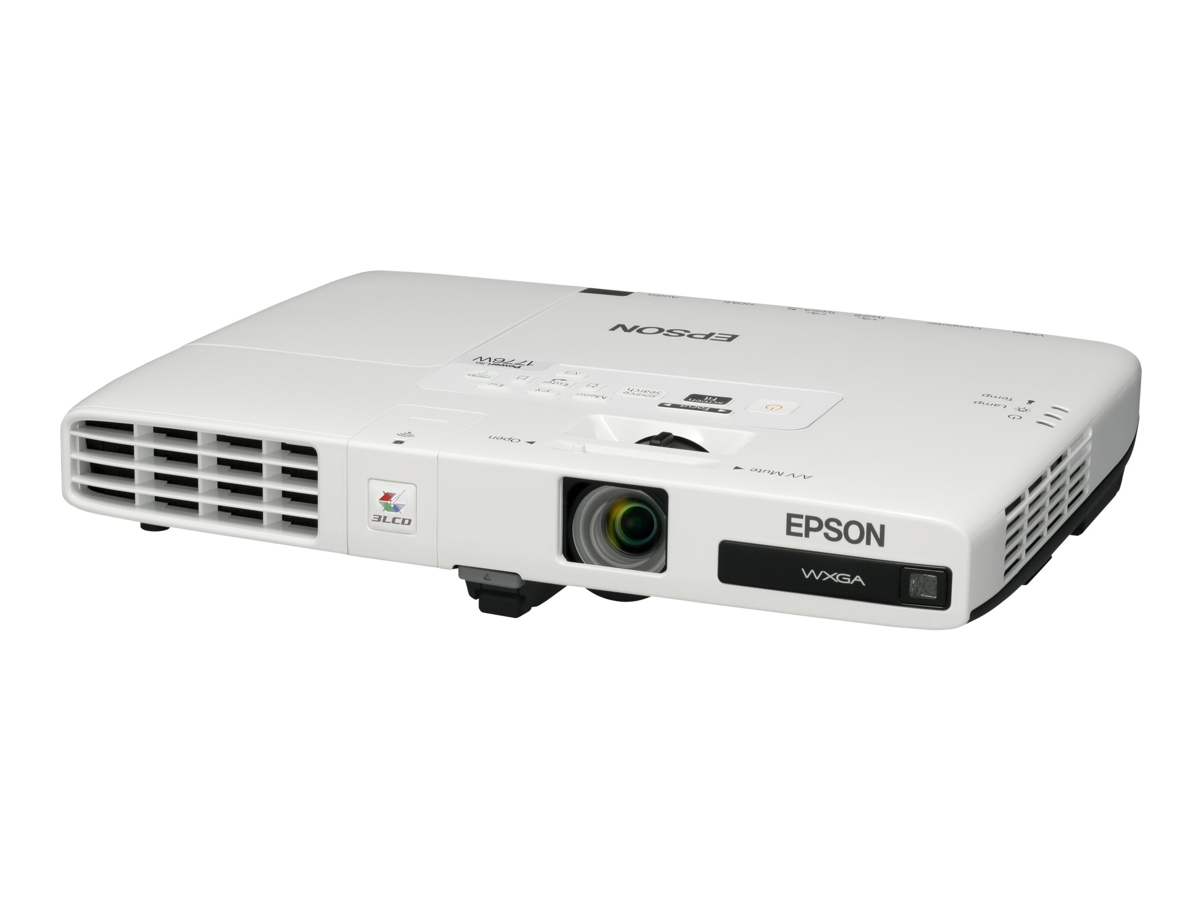 Epson PowerLite 1776W WXGA LCD Projector, 3000 Lumens, White, V11H476020, 14035255, Projectors