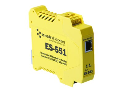 Brainboxes Industroal Ethernet 1-Port RS232 RS422 RS485, ES-551
