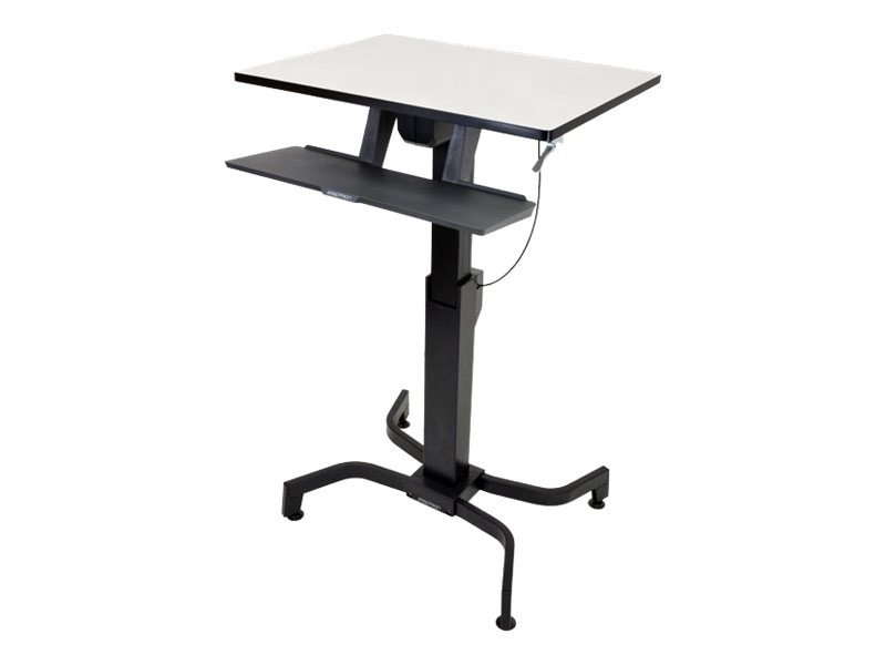 Ergotron WorkFit-PD, Sit-Stand Desk (light gray), 24-280-926