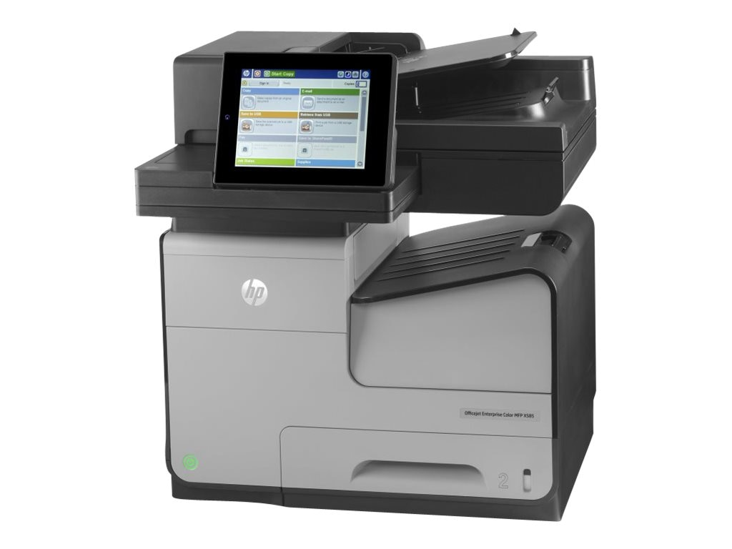 HP Officejet Ent X Series  X585f Color MFP Printer, B5L05A#BGJ, 16837585, MultiFunction - Ink-Jet