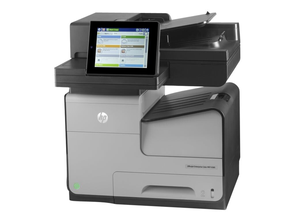 HP Officejet Ent X Series  X585f Color MFP Printer ($2,299 - $230 Instant Rebate = $2,069 Exp. 4 30), B5L05A#BGJ, 16837585, MultiFunction - Ink-Jet