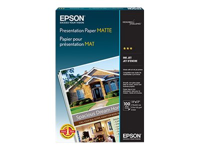 Epson 11 x 17 Photo Quality Inkjet Paper (100 Sheets), S041070, 32001, Paper, Labels & Other Print Media