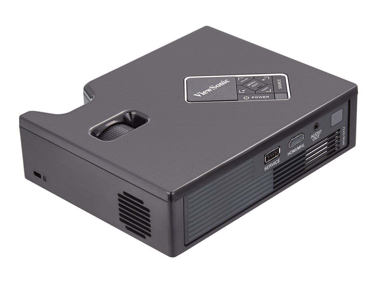 Scratch & Dent ViewSonic W600 WXGA Ultra-Portable LED Projector, 600 Lumens, Black, PLED-W600