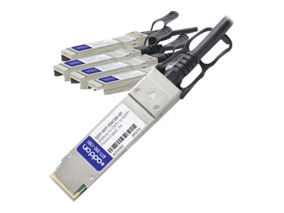 ACP-EP MSA Compliant 40GBase-CU QSFP+ to 4xSFP+ Direct Attach Cable, 3m, QSFP-4SFP-PDAC3M-AO