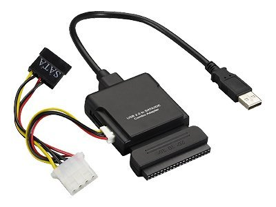 Black Box USB 2.0 to IDE SATA Combo Adapter, IC661A, 7930155, Adapters & Port Converters
