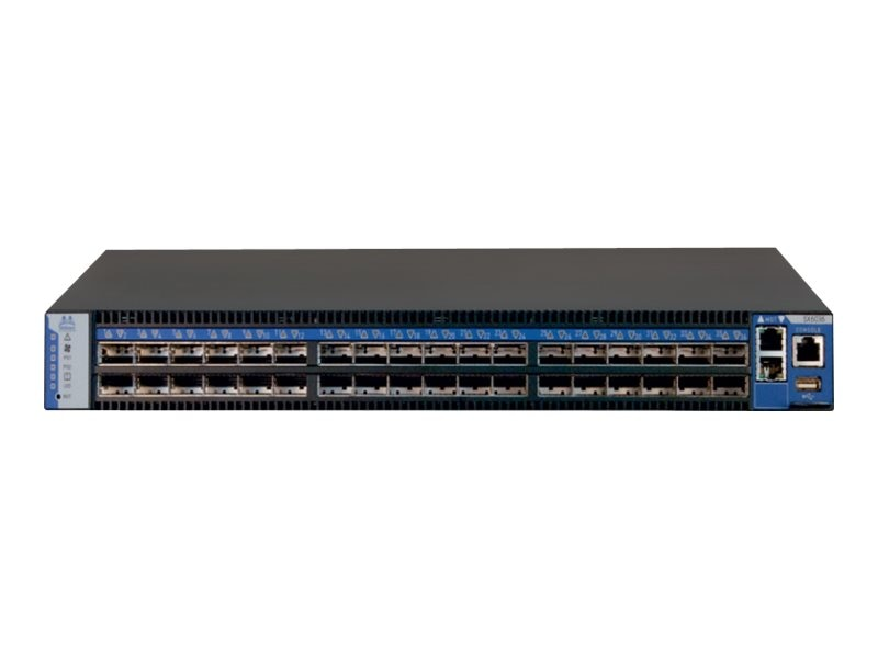 Mellanox SwitchX-based 36-port QSFP FDR 1U Managed InfiniBand Switch w  PS, MSX6036T-1BRS