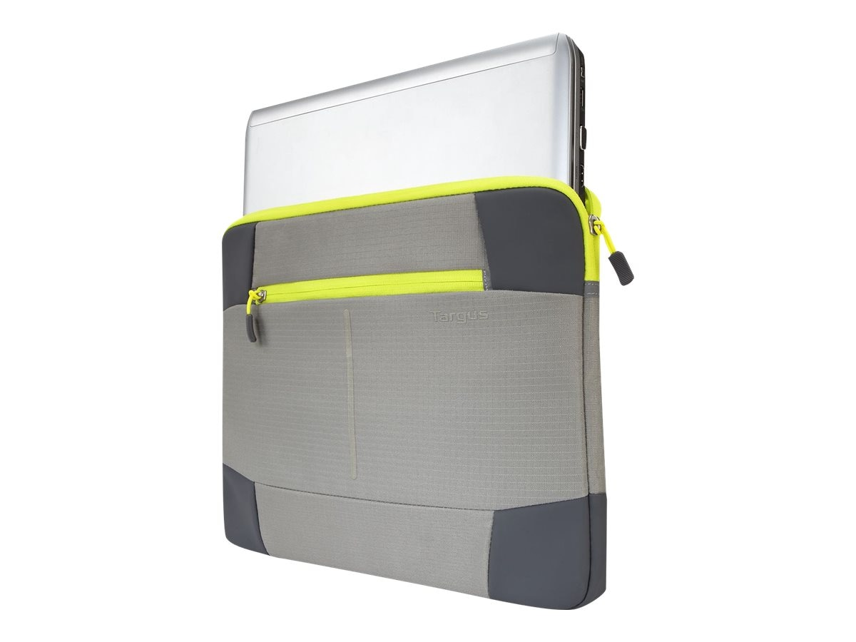Targus Bex II Sleeve Sulphur Spring 14, Yellow Gray, TSS878, 30564413, Carrying Cases - Notebook