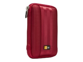 Case Logic Portable Hard Drive Case, Red, QHDC-101RED, 12744402, Carrying Cases - Other