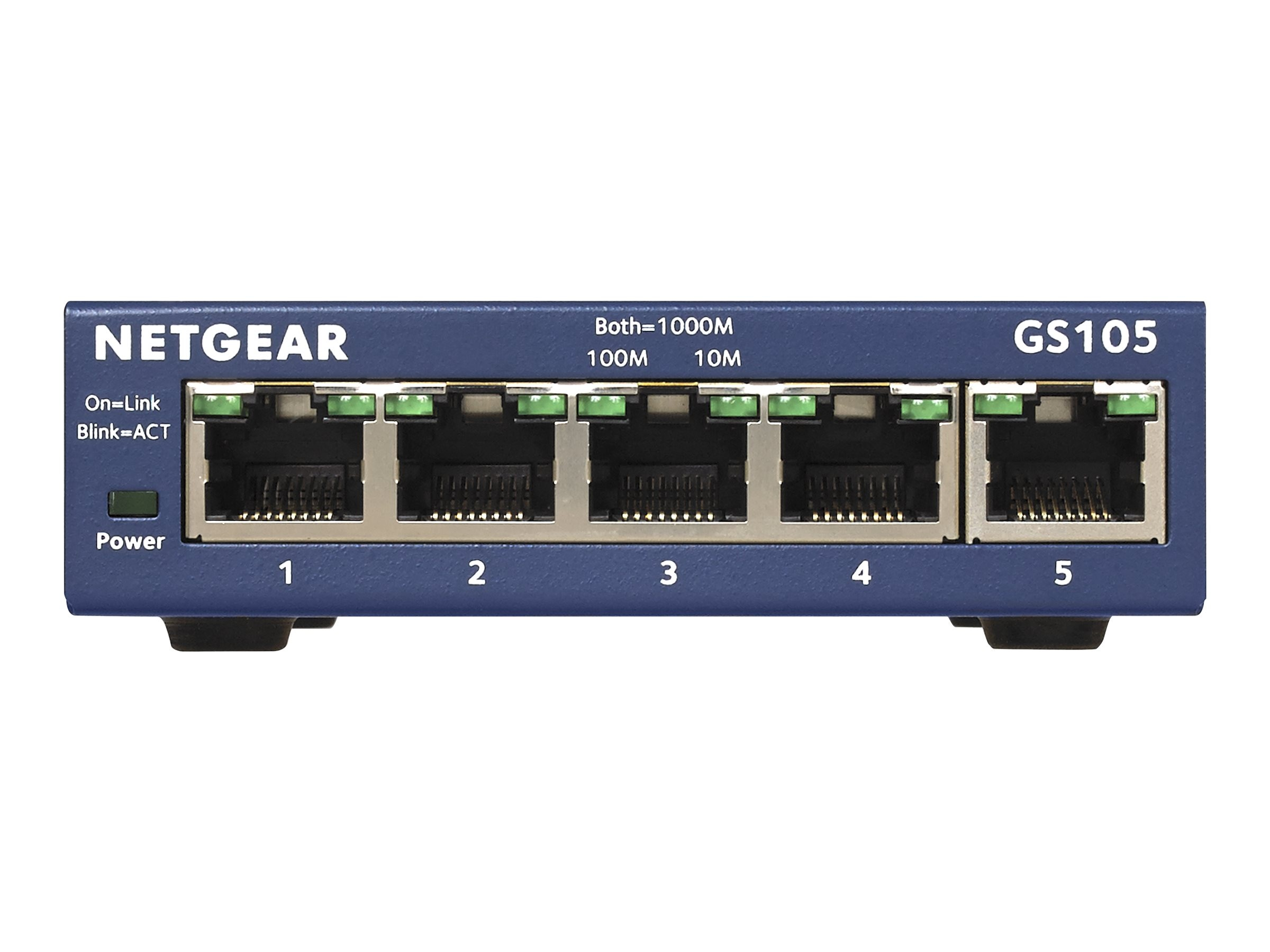 Netgear GS105 5-port Gigabit Ethernet Switch, GS105NA