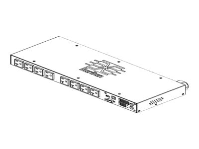 Raritan PDU 2.8kVA 120V 1-ph 24A 1U NEMA L5-30P (8) 5-20R Outlets, PX2-4167R, 17234225, Power Distribution Units