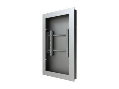 Peerless Wall Kiosk Enclosure, Silver, for 42 Ultra-Thin Displays up to 2.25 Thick