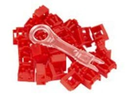 Black Box LockPORT Secure Port Locks, Red, w  Removal Tool, (25-pack), PL-AB-RD-25PAK, 17565374, Security Hardware