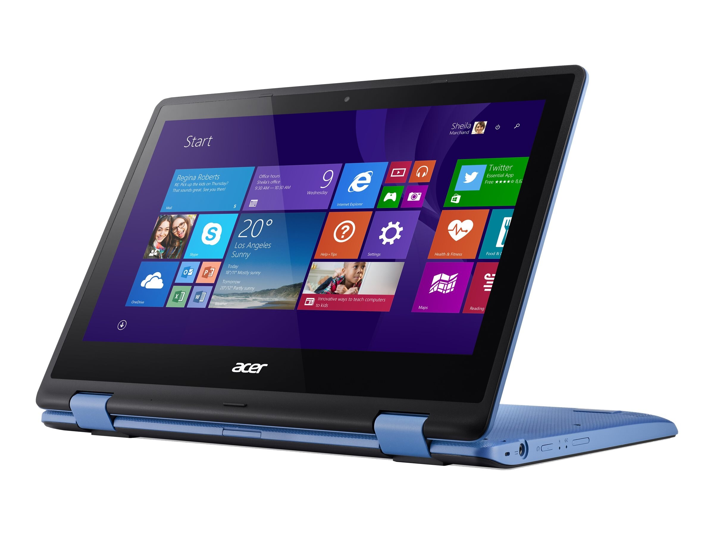 Acer Aspire R3-131T-C0B1 Celeron N3150 1.6GHz 4GB 500GB 11.6 Touch W10H64 Blue, NX.G0YAA.014, 30575403, Notebooks