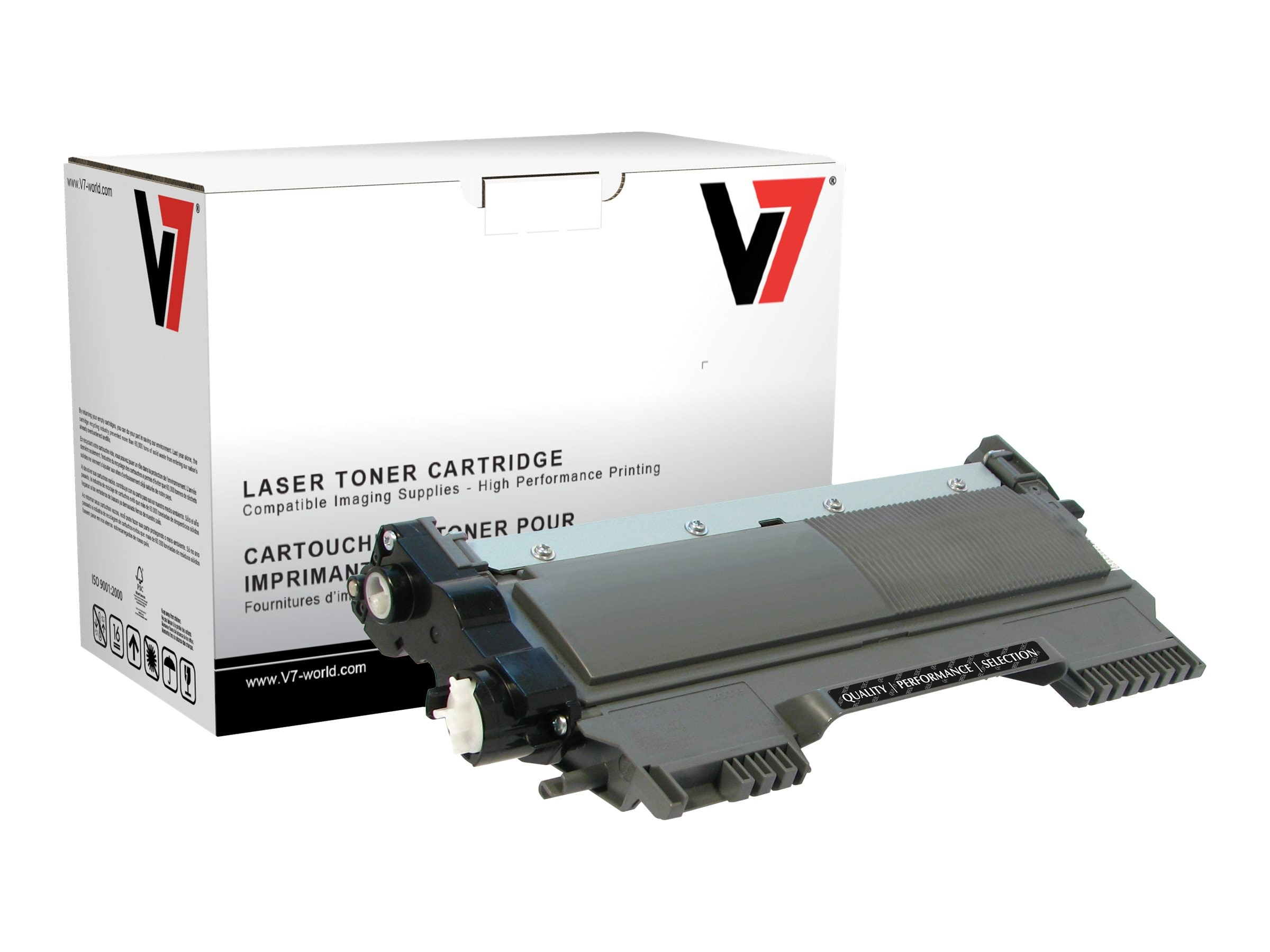 V7 TN420 Black Toner Cartridge for Brother HL-2240D (TAA Compliant), TBK2TN420