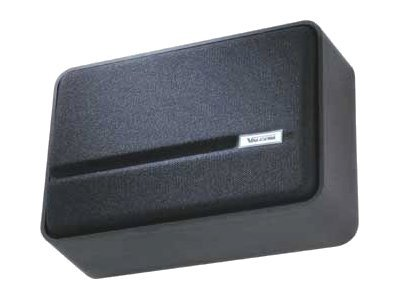 Valcom One-Way Simline Amplified Wall Speaker - Black, V-1042-BK