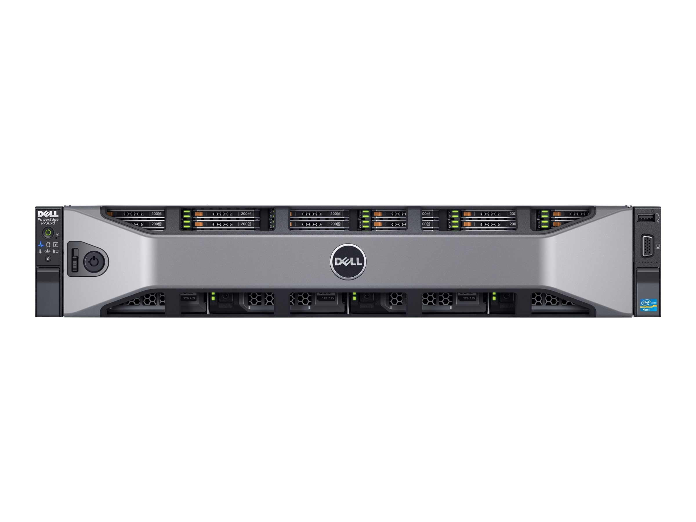 Dell PowerEdge R730xd Xeon E5-2620 v3 16GB H730, 463-3998, 18235051, Servers