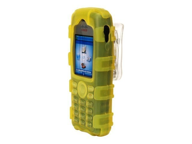 Zcover Silicone Ruggedized Dock-in-Case for Cisco 7925G 7925G-EX, Yellow, CI925HYL, 16579811, Carrying Cases - Phones/PDAs