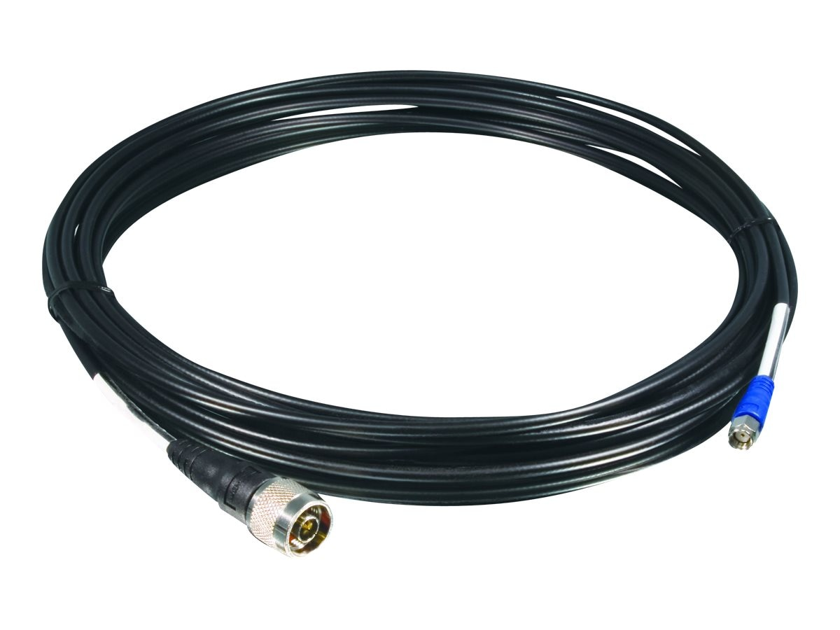 TRENDnet LMP200 Antenna Cable, SMA (F) to N-Type (M), Black, 8m