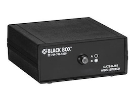 Black Box 2-to-1 CAT6 10-GbE Manual Switch (ABC), SW1030A, 11925092, KVM Switches