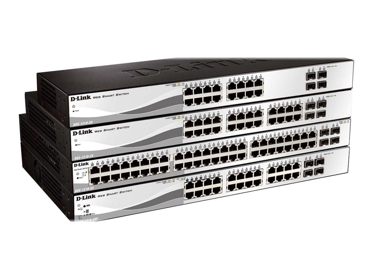 D-Link 16 Port Gig Web Smart Switch, DGS-1210-20, 16120074, Network Switches