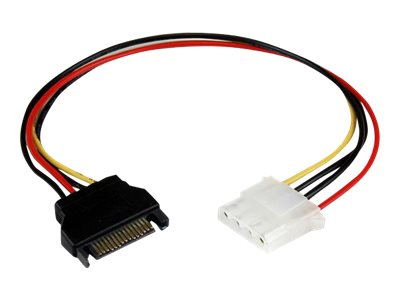 StarTech.com SATA to Molex LP4 Power F M Cable Adapter, 1ft, LP4SATAFM12