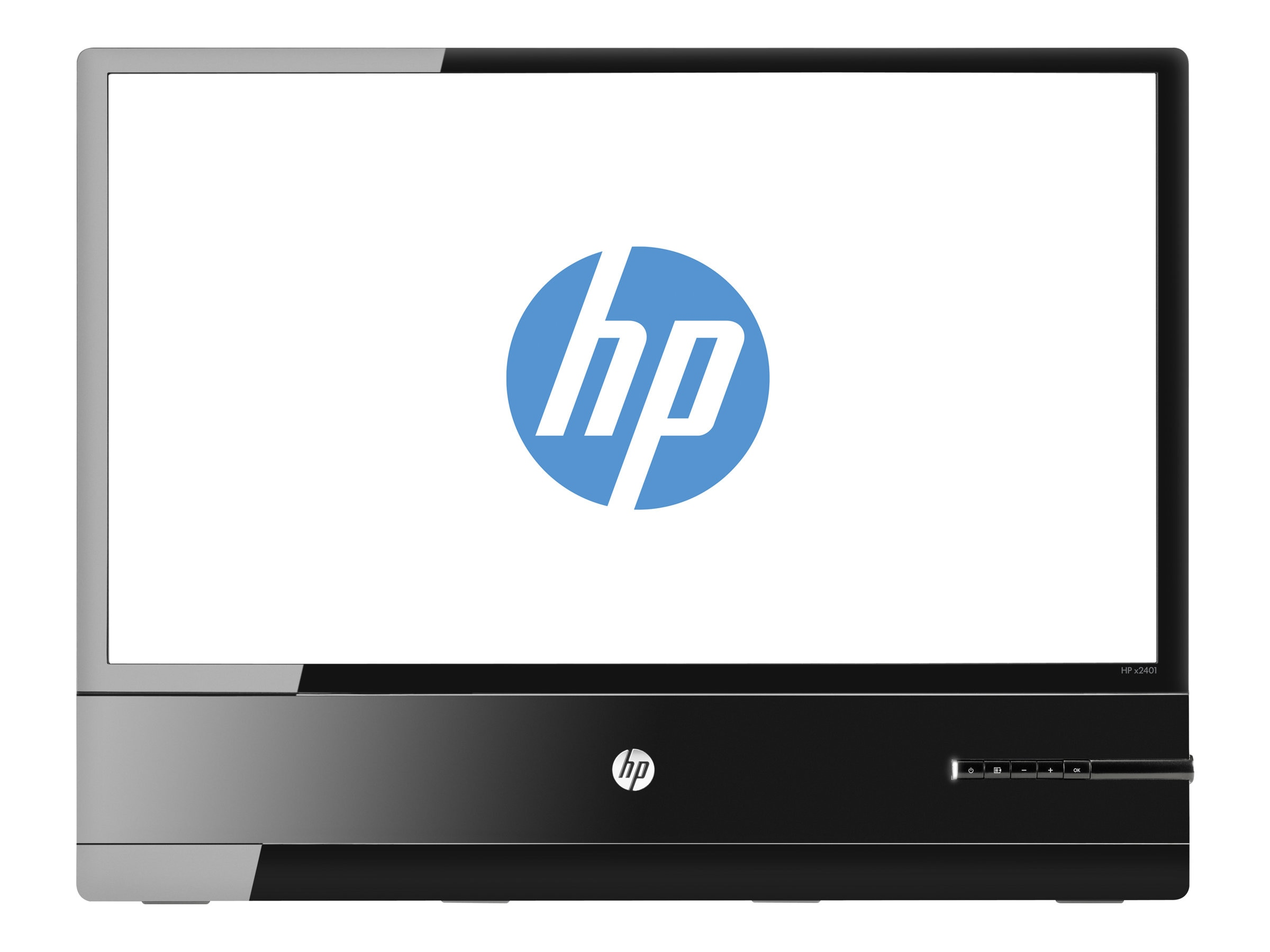 HP 24 X2401 Full HD LED-LCD Monitor, Black, B6R49AS#ABA, 15175727, Monitors - LED-LCD