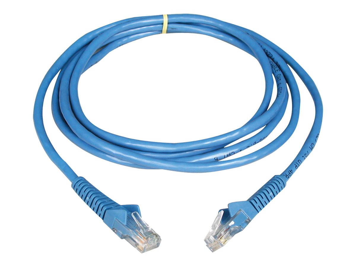 Tripp Lite Cat6 UTP Gigabit Ethernet Patch Cable, Blue, Snagless, 10ft, N201-010-BL, 454574, Cables