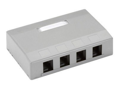 Black Box 4-Port Surface Mount Housing, Gray, WP380-R4