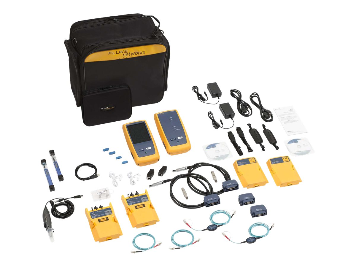 Fluke DSX-5000 with OLTS Multimode and Fiber Inspection with 1 year Gold Support, DSX-5000MI 120/GLD, 15900706, Network Test Equipment