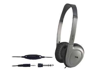 Cyber Acoustics Stereo Headphones w  Volume Control, HE-200RB, 6188972, Headphones