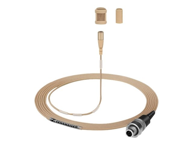Sennheiser MKE 1-EW-M Sound Pro Clip-on Microphone TRS Connector, 1.6m, Light Beige, Paintable