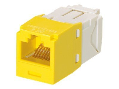 Panduit Cat6 RJ-45 8-position 8-wire Universal Module, Yellow (24-pack), CJ688TGYL-24, 31083312, Premise Wiring Equipment