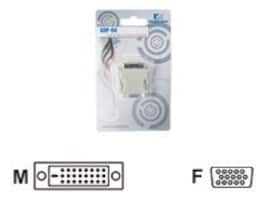 Kingwin DVI-D (M) to VGA HD-15 (F) Adapter, ADP-04A, 10904871, Adapters & Port Converters