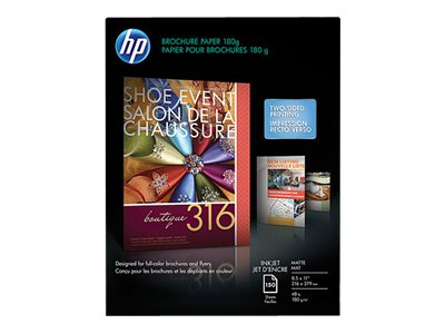 HP 8.5 x 11 Brochure & Flyer Matte Paper (150 Sheets), CH016A, 11527035, Paper, Labels & Other Print Media