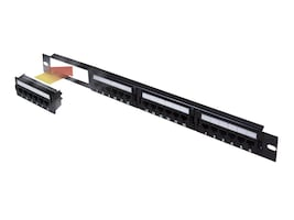 Belkin 24-Port Cat5 Patch Panel, F4P338-24-AB5, 47605, Patch Panels