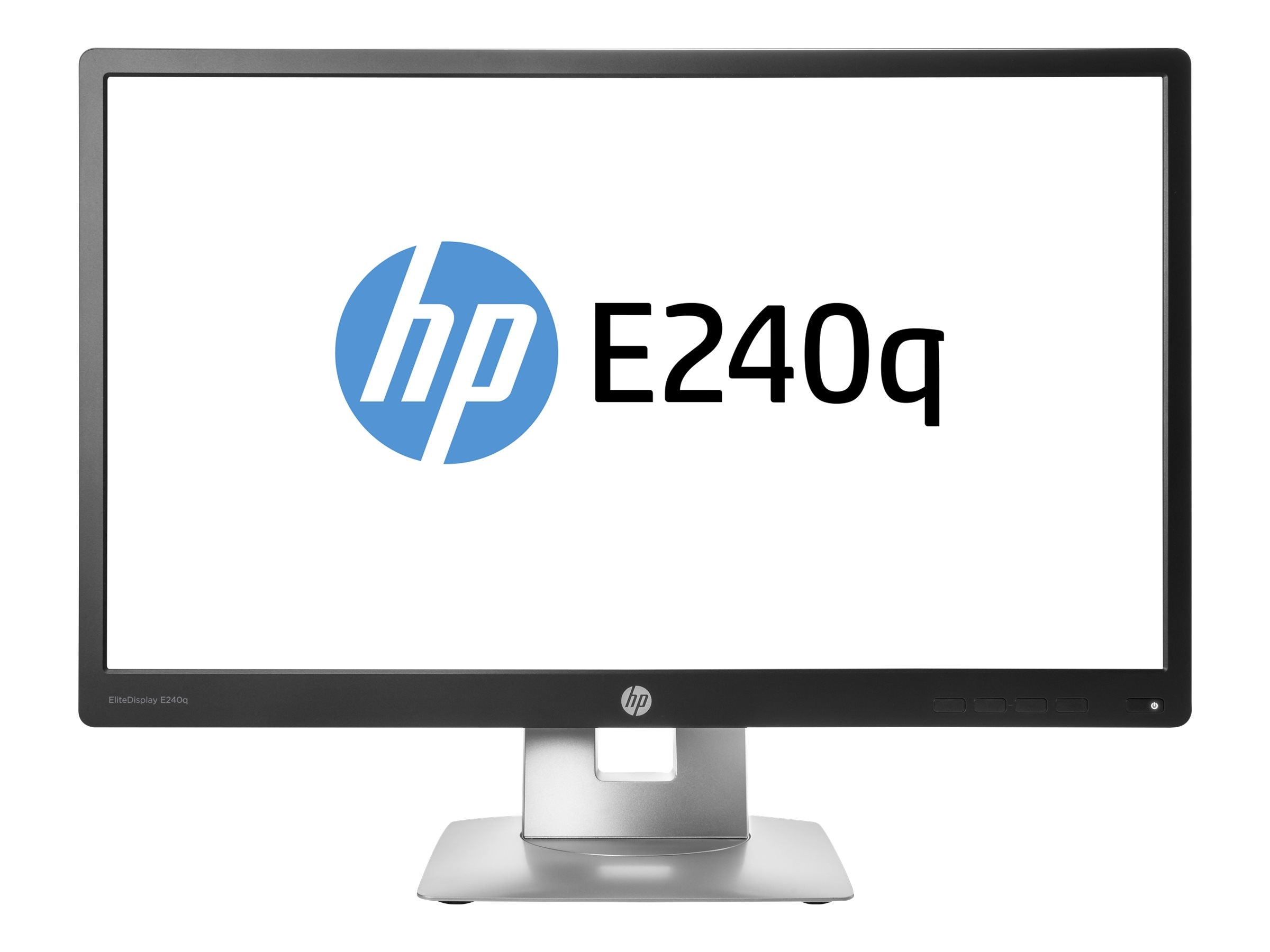 HP Smart Buy 23.8 E240Q QHD LED-LCD Monitor, Black, M1P01A8#ABA, 30737388, Monitors - LED-LCD