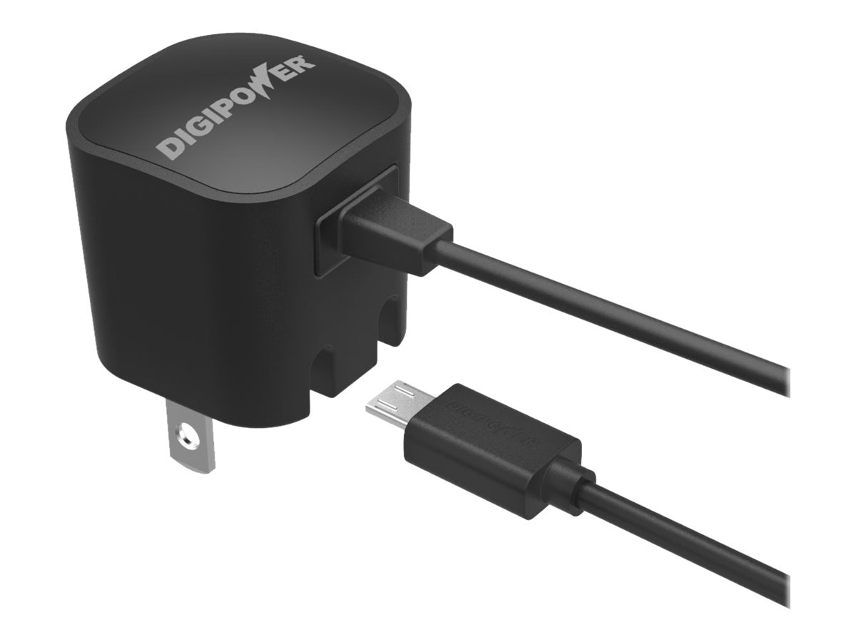 DigiPower Wall Charger 1A w  Micro-USB Cable, IP-AC1M-T
