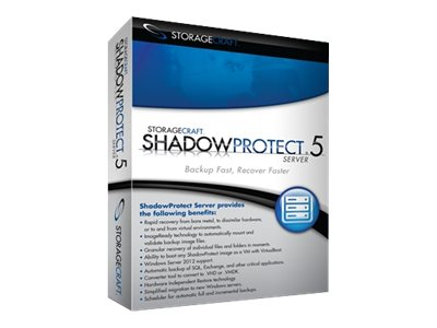 StorageCraft Corp. ShadowProtect Server 5.x - 3-License Pack -  Includes 1 year Maintenance, SSPS50USPS0300ZZZ, 15256341, Software - Data Backup