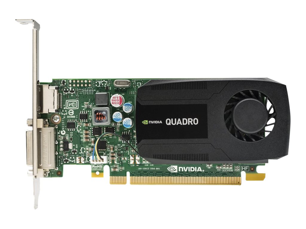 HP NVIDIA Quadro K420 PCIe 2.0 x16 Low-Profile Graphics Card, 1GB DDR3, J3G86AT