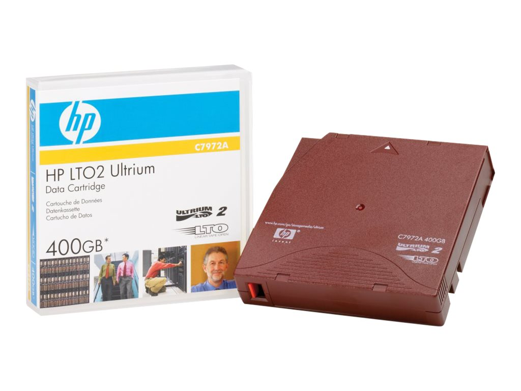 HPE 200 400GB 609m LTO-2 Ultrium Tape Cartridge, C7972A, 420415, Tape Drive Cartridges & Accessories
