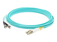 ACP-EP ST-LC 50 125 OM4 LOMM Duplex Patch Cable, Aqua, 15m, ADD-ST-LC-15M5OM4