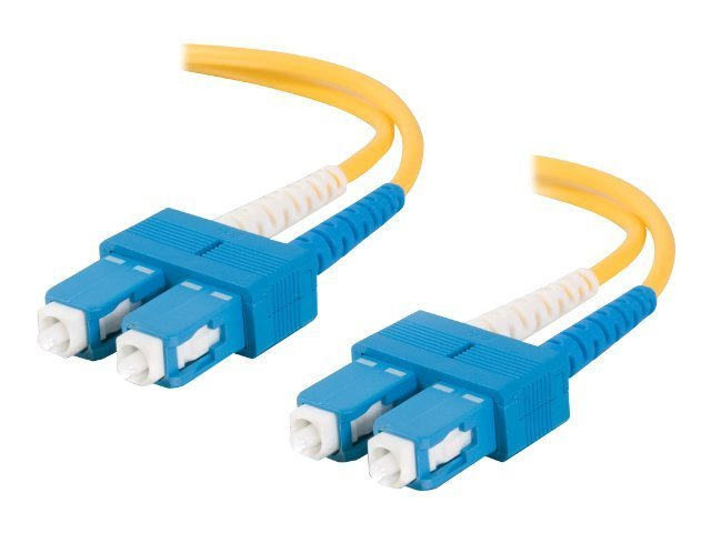 C2G SC-SC 9 125 OS2 Singlemode Duplex Fiber Optic Cable, Yellow, 2m, 11213