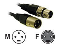 C2G Pro-Audio XLR M F Cable, Black, 6ft, 40059, 7945656, Cables