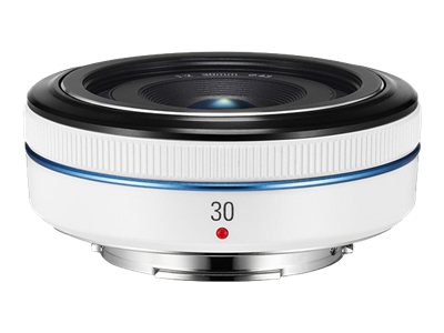 Samsung 30mm f 2.0 NX Pancake Lens, White, EX-S30ANW/US, 18743662, Camera & Camcorder Lenses & Filters