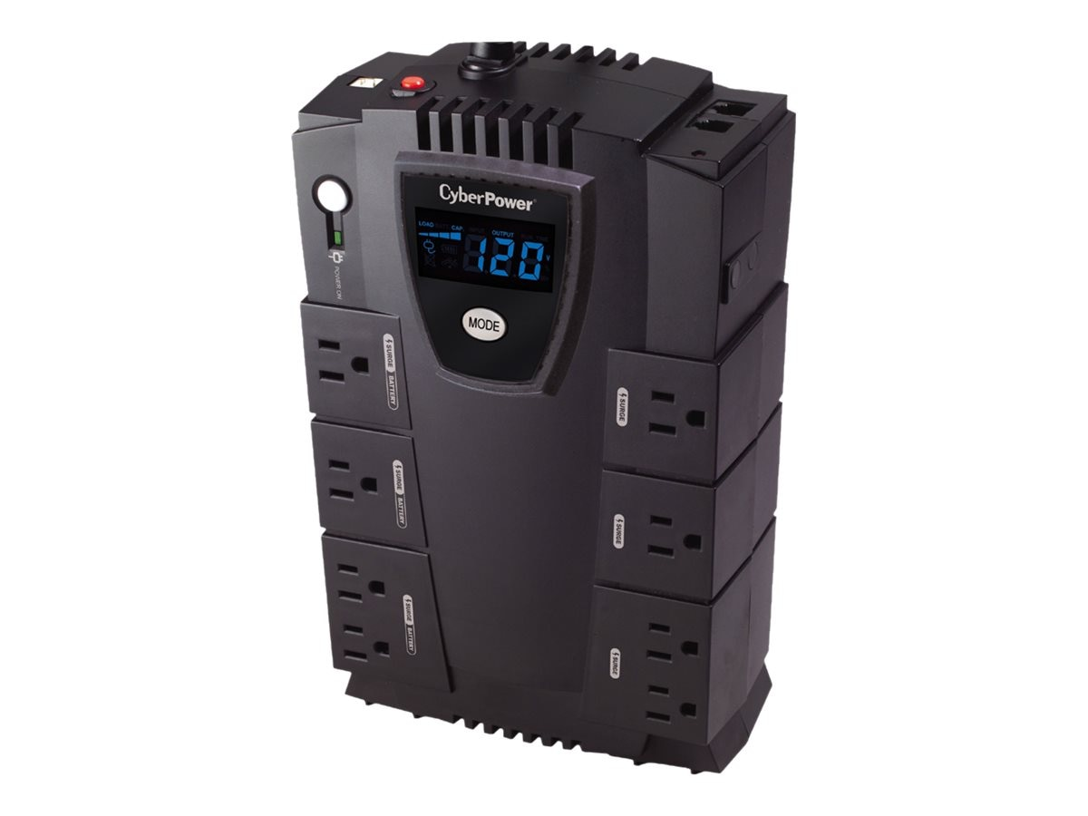 CyberPower Home Office Series 825VA 450W UPS with LCD, Phone Network Protection