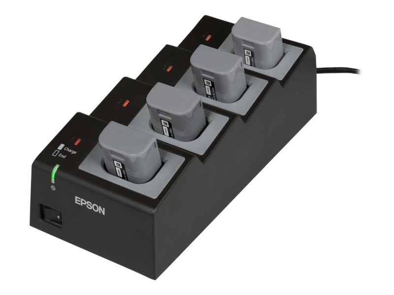Epson P60II P80 Quad Battery Charger, AC Cord Sold Separately