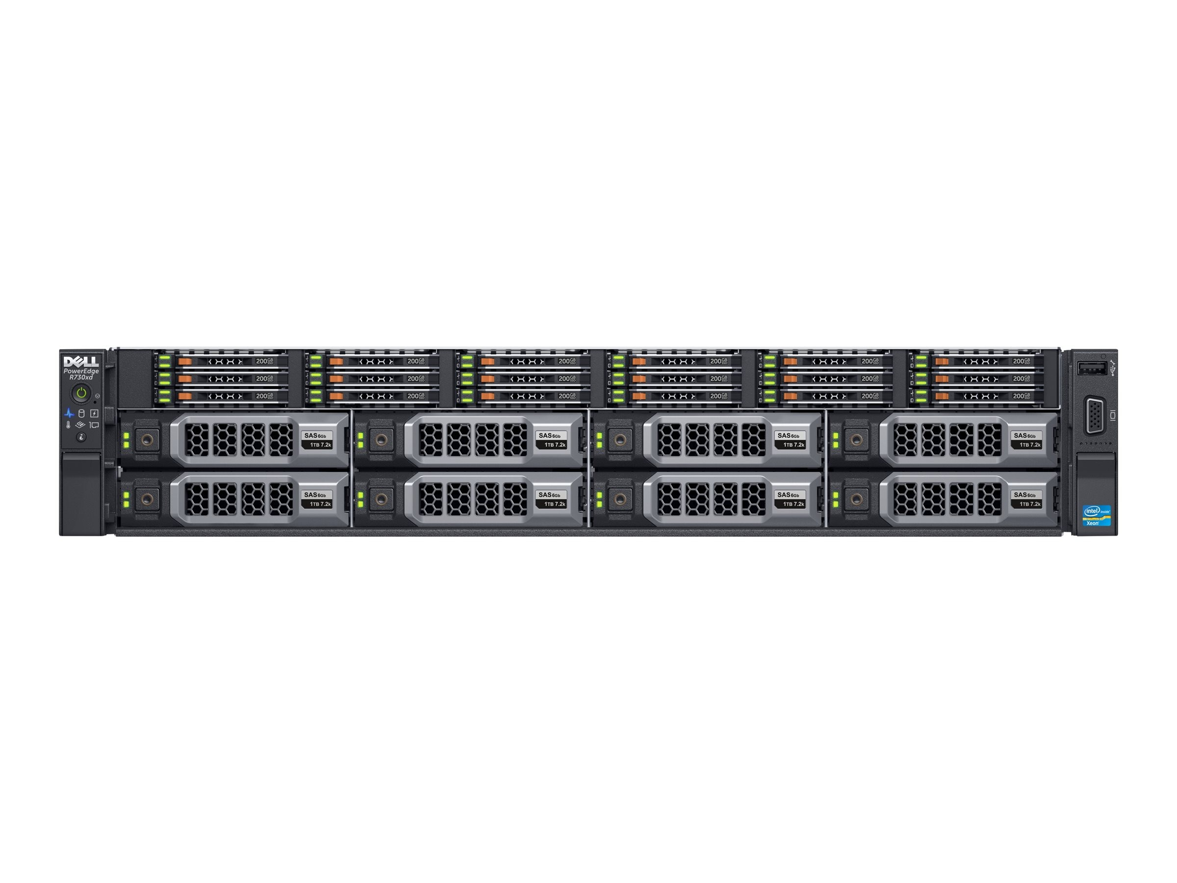 Dell PowerEdge R730xd Xeon E5-2640 v3 16GB H730, 463-4004