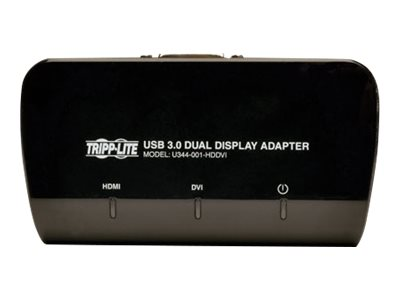 Tripp Lite USB 3.0 to DVI and HDMI Dual Monitor Video Display Adapter, Instant Rebate - Save $4, U344-001-HDDVI