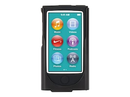 Griffin Silicone Case for iPod Nano 7, Black, GB39664-2, 32138258, Carrying Cases - iPod
