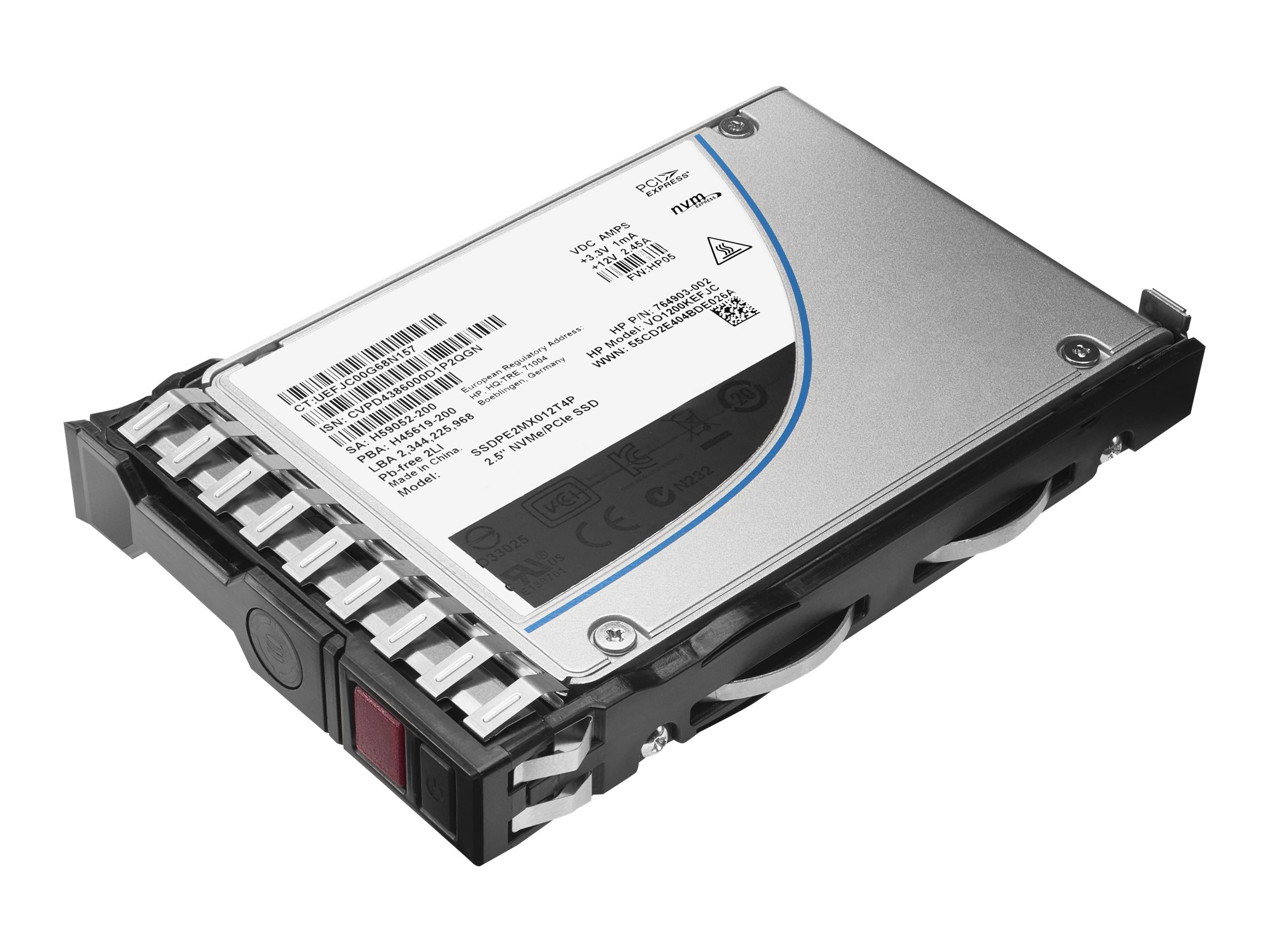 HPE 960GB SATA 6Gb s Mixed Use-3 SFF 2.5 Smart Carrier Solid State Drive, 816995-B21